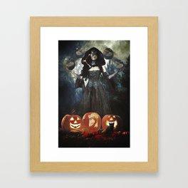 Juggling Halloween Framed Art Print