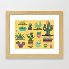 Desert Plants Framed Art Print