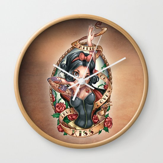 Waiting For Loves True Kiss Wall Clock