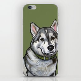 Aspen the Husky iPhone Skin