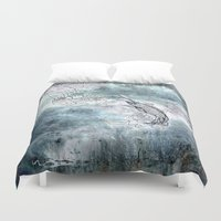 fishing Duvet Covers featuring Fishing swordfish by Menchulica
