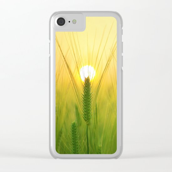 barley field Clear iPhone Case