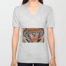 Tiger Collage Unisex V-Neck
