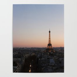 Eiffel Tower During Sunset Poster