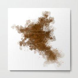Caffeine Clouds Metal Print