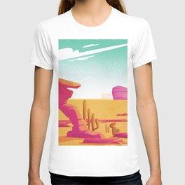 Desert Gaze Kitschy Vintage Watercolor in Mid Century Style T-shirt