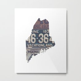 Vintage Maine Metal Print