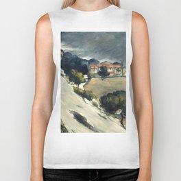 """Paul Cezanne """"Melting Snow At L'Estaque"""" Biker Tank"""