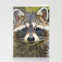 racoon Stationery Cards featuring Little Racoon by Gene S Morgan