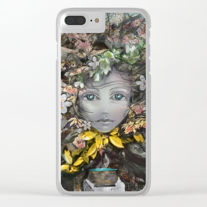 Changing Seasons Clear iPhone Case