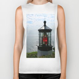 The Red Beacon On Tillamock Bay Biker Tank