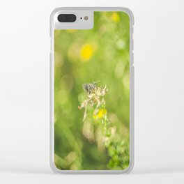 Little butterfly in flowery meadow Clear iPhone Case