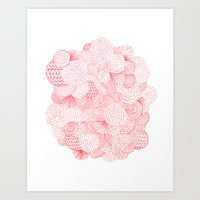 fireworks Art Prints featuring Fireworks by Marcelo Romero