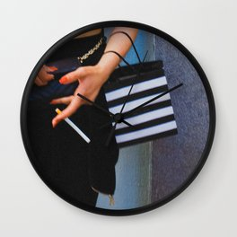 Smoking Girl, C Wall Clock
