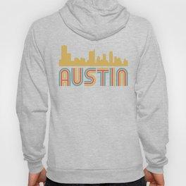 Vintage Style Austin Texas Skyline Hoody