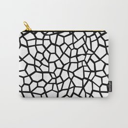 Memphis Milano style mosaic pattern, black and white pattern print Carry-All Pouch