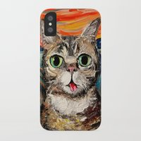 lil bub iPhone & iPod Cases featuring Lil Bub Meets The Scream by Sagittarius Gallery