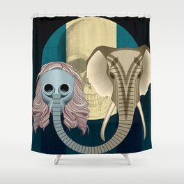 Love in times of Ebola Shower Curtain