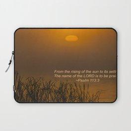 Psalm 113:3 Sunrise Laptop Sleeve