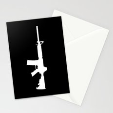 AR-15 (on black) Stationery Cards