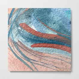 Grace [1]: An abstract watercolor piece in reds and blues by Alyssa Hamilton Art Metal Print