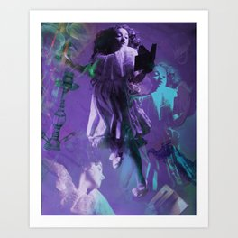 Alice in Wonderland Composite- Curiouser and Curiouser Art Print