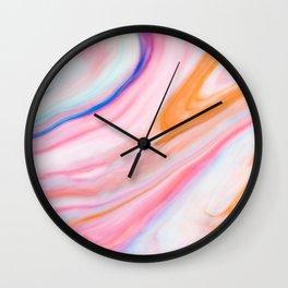 Rainbow Marble Print Wall Clock