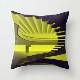 Upstairs - Brasilian Brutalism Throw Pillow
