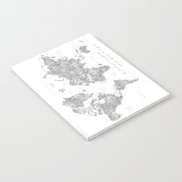 We travel not to escape life grayscale world map Notebook