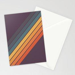 Classic 70s Style Retro Stripes - Dalana Stationery Cards