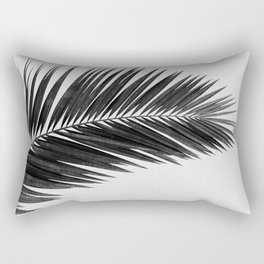 Palm Leaf Black & White I Rectangular Pillow