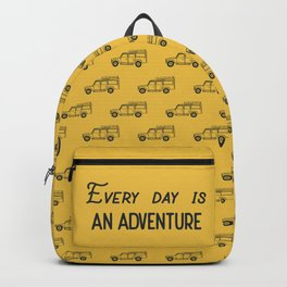 Every day is an adventure, land rover Backpack