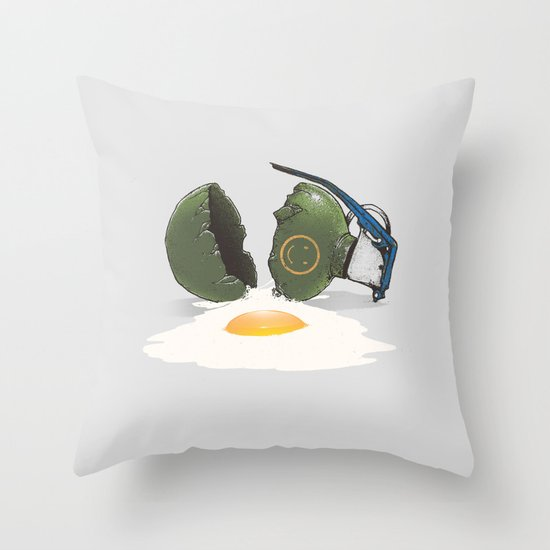 Eggsplosion Throw Pillow