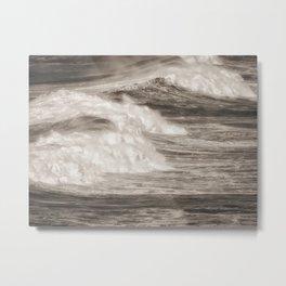 Destined Ocean waves breaking Metal Print