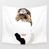 audrey Wall Tapestries featuring Audrey by Bethany Mallick