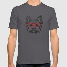 Portrait of Yorkshire Terrier Dog. T-shirt