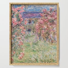 Monet, The House Among The Roses, 1917-1919 Serving Tray