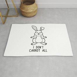 I Don't Carrot All Shirt Funny Pun Wordplay Gift Rug