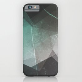 Marble Teal Layers iPhone Case