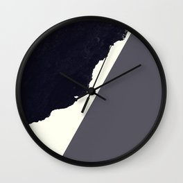 Contemporary Minimalistic Black and White Art Wall Clock