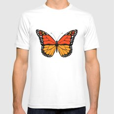 Monarch butterfly White MEDIUM Mens Fitted Tee