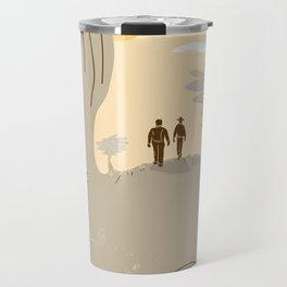John Steinbeck Tribute Poster Travel Mug