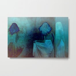 Shades of Blue Metal Print