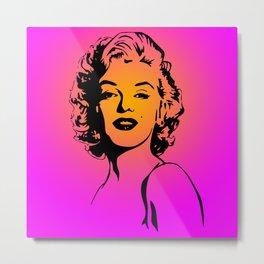 Marilyn Pink Metal Print