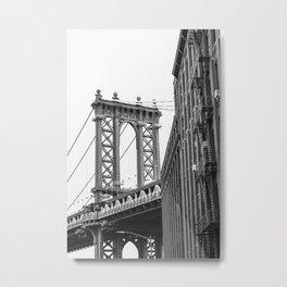 DUMBO Brooklyn Black n White Metal Print