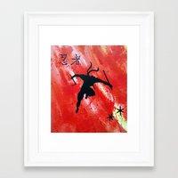 ninja Framed Art Prints featuring NINJA by STELZ (Vlad Shtelts)