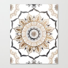 Positive Thoughts Mandala Wood Canvas Print