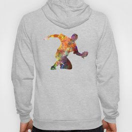 baseball player catching a ball 01 Hoody