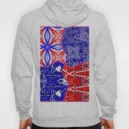 Tile #5 Red-White-Blue Collage Hoody