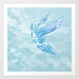 Flying Blue Art Print